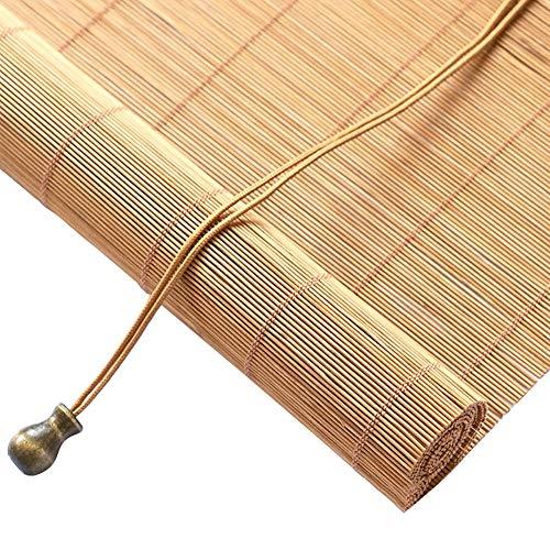 Lqqdp Estores Enrollables Persianas Enrollables de Bambú Natural Gazebo, Persianas Enrollables de Protección UV for Exteriores, for Jardín de Oficina/Tirador Lateral, 60/80/100/120/140 cm de Ancho