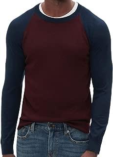 Banana Republic Men's Washable Merino Wool Blend Sweater, Navel Burgundy