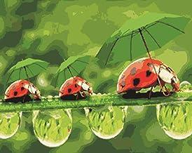 Pintura Al Óleo Digital Diy Pintado A Mano Para Colorear Paisaje Pintura Al Óleo Escarabajo Entrada Sala De Estar Decoración