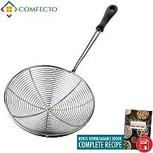 Cocina Araña Colador | Premium 7Inch alimentos espumadera red de alambre de acero inoxidable 304Asia Wok colador cocina herramienta | Stay Cool resistente al calor cucharón de PP mango