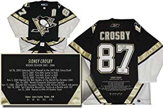 Sidney Crosby Signed Jersey Pro Penguins Black Embroidered Rookie Year LE187