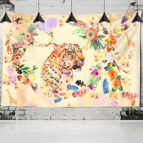 WYFCLHH Animal World Tapiz de decoración de pared, diseño de tigre, para colgar en la pared, dormitorio, sala de estar, 51.2 x _59.1 pulgadas