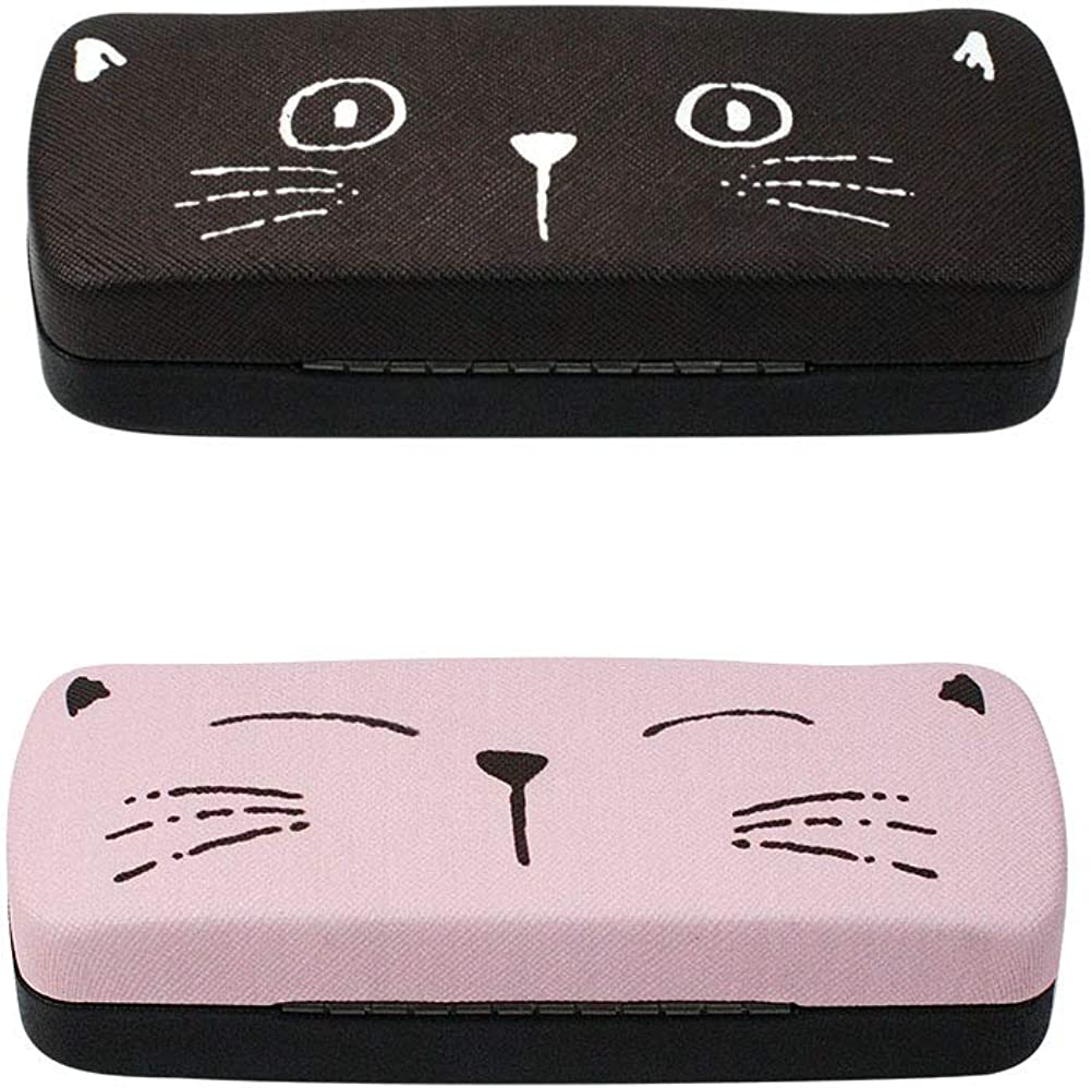 Max 59% OFF 2 PACK JAVOedge Multi-Color Wholesale Cute Hard Printed Face Clamsh Cat
