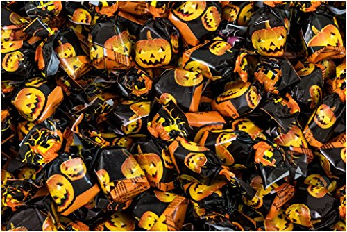 Caramelo Halloween La Asturiana - Surtido de caramelo duro con diversos sabores, para fiestas temáticas de Halloween, bolsa 1 kilo, sin gluten