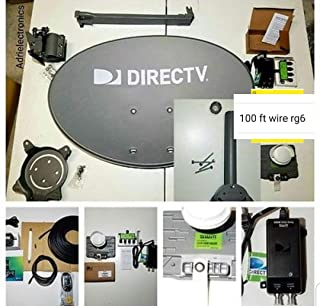 New AT&T Complete Directv 4K Satellite Dish Full HD Sat 101' 110' 119' 103' 99' 95 Reverse Band Last Test Full English, Spanish & Local Station FULL lLive 24/7 Tech Support