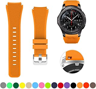 SAPU Bands for Samsung Gear S3 Frontier/Classic Watch Silicone Bracelet, Sports Silicone Band Strap Replacement Wristband for Samsung Gear S3 Frontier/S3 Classics Orange