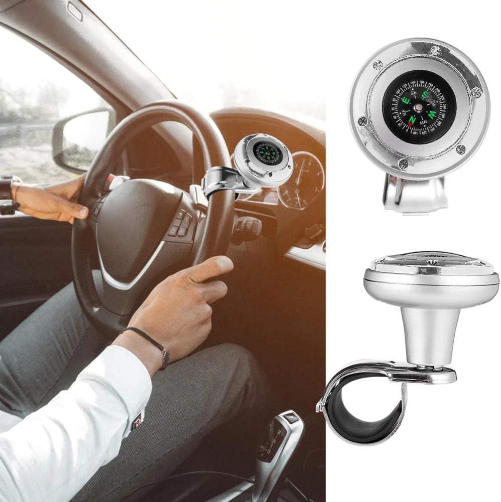 Car Steering Wheel Spinner Knob,MoreChioce Universal Car Steering Wheel Rotary Knob Spinner Handle Knob Handlebar Grip Ball for Car Vehicle Truck Cars,Black