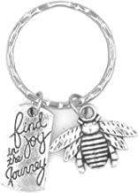 It's All About...You! Find Joy in The Journey Bee Keychain 105N