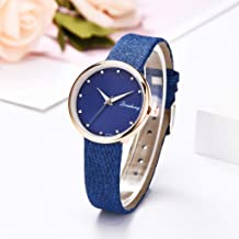 Watch Clement Attlee Women's Fashion Simple and Simple Casual Monochrome Leather with Strap Ladies Watch