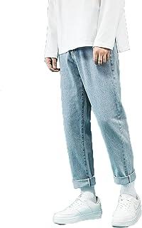 Generic11 Pantaloni in Denim da Uomo Strappati Stile Casual Jeans Larghi e Dritti Anti sbiadimento Versatili Pantaloni Cor...