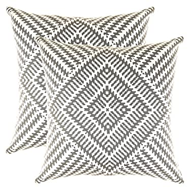 TreeWool, (2 Pack) Throw Pillow Covers Kaleidoscope Accent Decorative Pillowcases Toss Pillow Cushion Shams Slips Covers for Sofa Couch (18 x 18 Inches / 45 x 45 cm; Graphite Gray), White Background