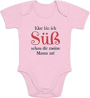 Shirtgeil Girl - Klar Bin ich Süß schau dir Meine Mama an Baby Body Body Body Body z krótkim rękawem