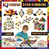 IQ BUILDER(アイキュービルダー)   STEM学習おもちゃ   創造的な建設エンジニアリング   楽しい教育ビルディングおもちゃセット 男の子と女の子向け 3 4 5 6 7 8 9 10歳   子供に最適なおもちゃギフト   トップブロックゲームキット