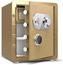 HDZWW Home Safes Digital Safe-Electronic Steel Safe, Manual Override Keys-Protect Money, Jewelry, Passports-for Home, Busi...
