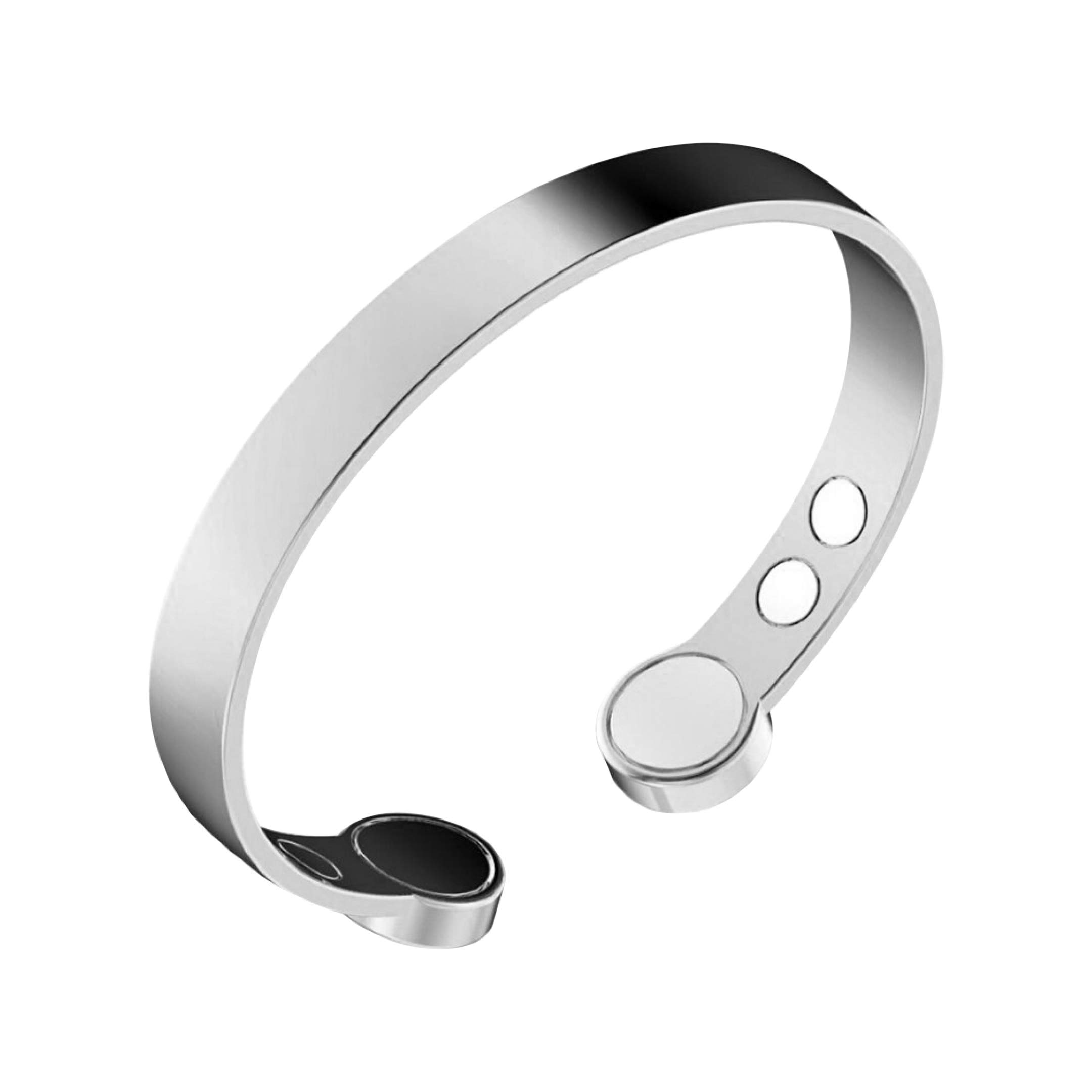 Rosian & Levine Copper Bracelet for Arthritis, Migraine & Pain Relief, Osteoarthritis, Menopause Support, Hot Flushes, Carpal Tunnel Plated Magnetic Bracelets Sale Gift Men Women (Medium 17.5 cm)