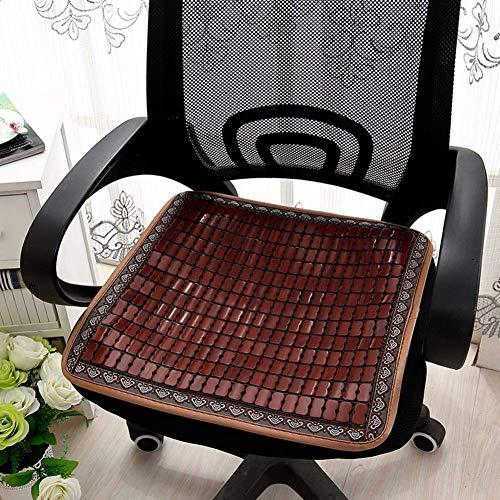 XYSQWZ Cojín de Asiento cómodo y Transpirable, para Coche Familiar Cool Pad Summer-Brown 45x45cm (18x18inch)