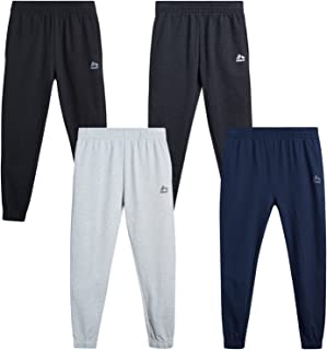 RBX Boys' Sweatpants – 4 Pack French Terry Active Jogger Pants (Size: 4-20)
