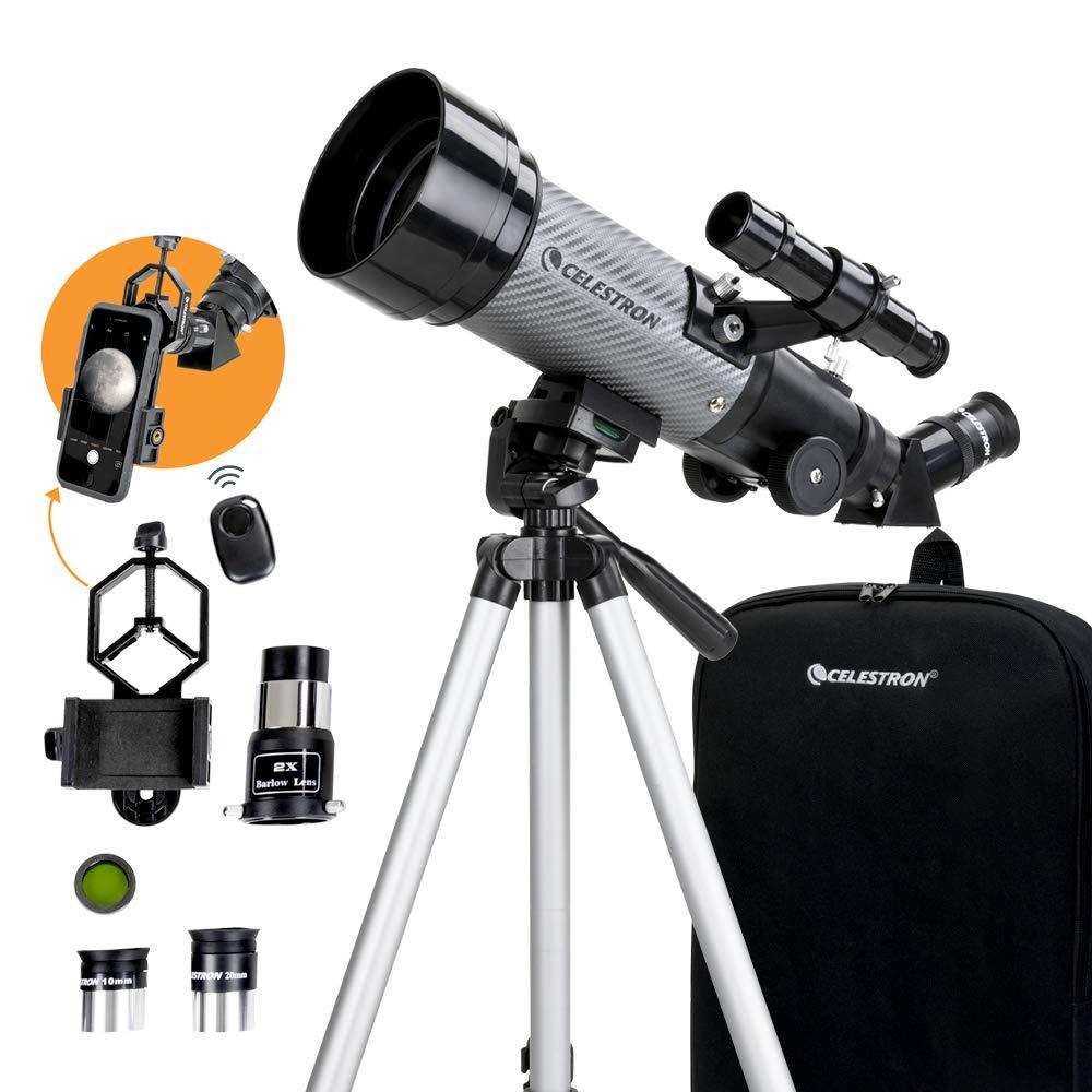 Celestron - Telescopio portátil 70 DX con Adaptador para ...
