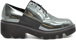 VIC MATIÉ Women's MCBI37728 Green Leather Lace-Up Shoes