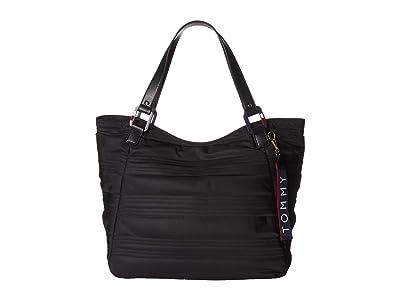 Tommy Hilfiger Charter Tote (Black) Handbags