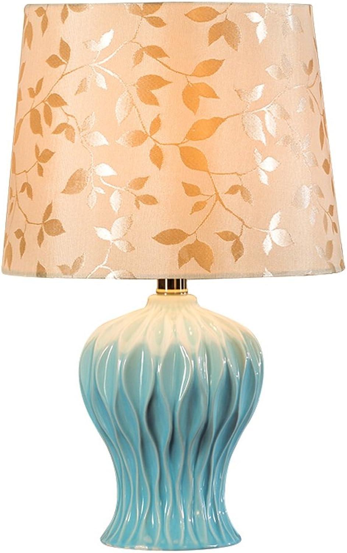 LILY American-Style Keramik Tischlampe Schlafzimmer Nachttisch Lampe Creative Pastoral Dekorative Lampe B075WX2PSW     | Spielen Sie auf der ganzen Welt und verhindern Sie, dass Ihre Kinder einsam sind