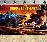 Monster Birthday Party Supplies 5x3 Ft Birthday Background Banner Monster Large Monster Backdrops for Kids Party Wall Decorations Photo Background for Walls