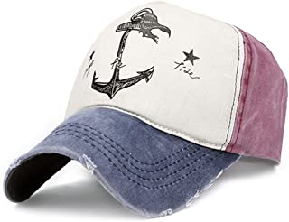 Pirate Ship Anchor Baseball Hat Multicolor Printing Adjustable Hip-Hop Cap