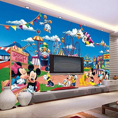 MGQSS 3D Wandbild selbstklebende Tapete Vergnügungspark Cartoon Animation 3D Kinderzimmer Tapete Poster Fototapete Junge Mädchen Schlafzimmer Raumdekoration Umweltschutz(B)200x(H)150 cm