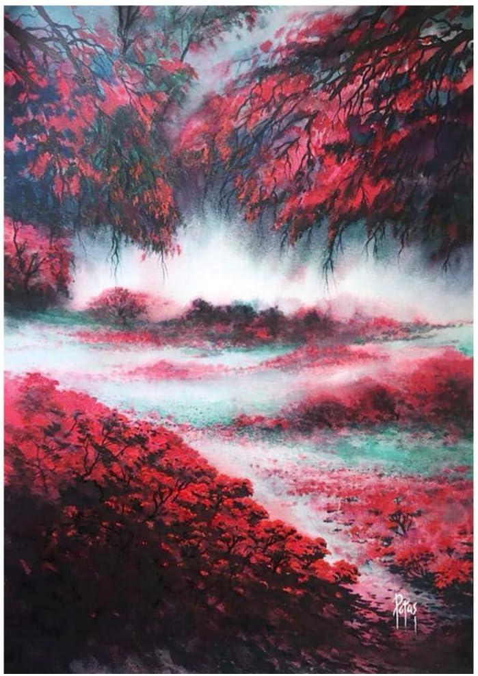 iselezm Landscape 5D Diamond Painting discount Lake Cloud Tree Flower Super beauty product restock quality top! Rou