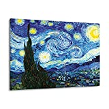 Giallobus - Giallopanel Art Board - Vincent Van Gogh - Noche Estrellada - Madera de MDF - 42X29,7
