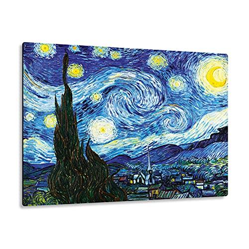 Giallobus - Giallopanel Art Board - Vincent Van Gogh - Noche Estrellada - Madera de MDF - 29,7X21
