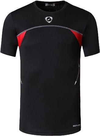 jeansian Men's Sport Quick Dry Fit Short Sleeves Tshirt T-Shirt Shiirt Tees Tops Tennis Golf Bowling LSL1059