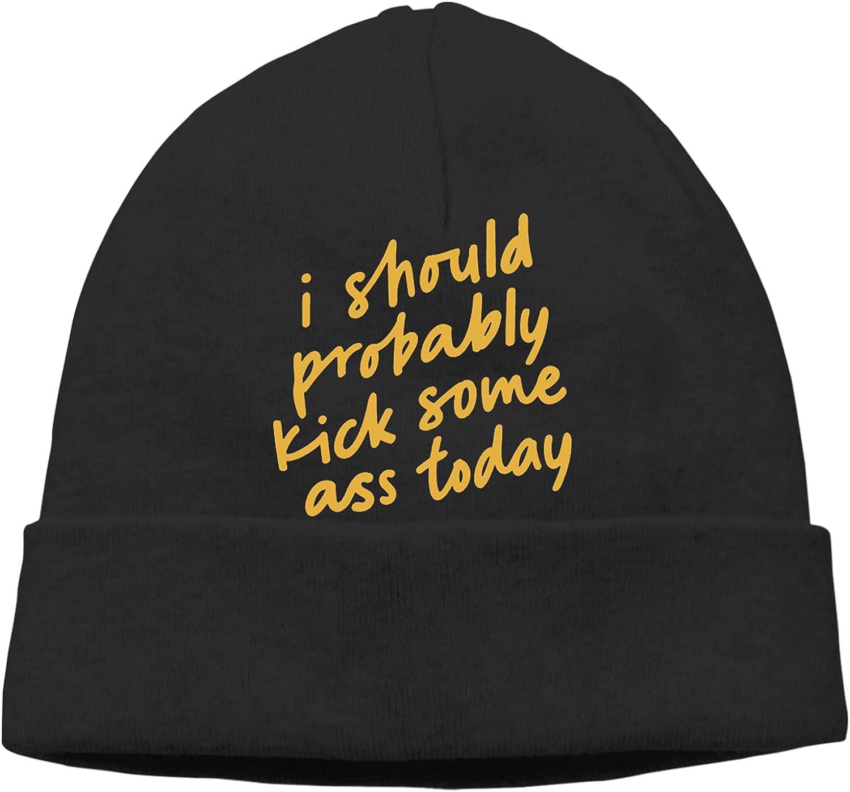 I Should Probably New popularity Kick Some Ass Unisex Today6 Cap Kansas City Mall Beanie Slogan