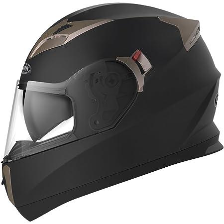 Motorcycle Full Face Helmet DOT Approved - YEMA YM-829 Motorbike Moped Street Bike Racing Casco Moto Helmet with Sun Visor Bluetooth Space for Adult,Youth Men and Women - Matte Black,XL