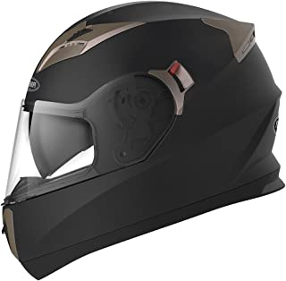 Motorcycle Full Face Helmet DOT Approved - YEMA YM-829 Motorbike Moped Street Bike Racing Casco Moto Helmet with Sun Visor Bluetooth Space for Adult,Youth Men and Women - Matte Black,XL