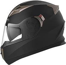 YEMA Helmet Unisex-Adult Motorcycle Full Face DOT Helmet YM-829 (Matte Black, M)