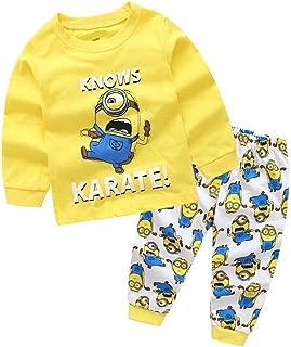 Boys Dinosaur Pajamas 2 Piece Set Long Sleeve Sleepwear 100% Cotton 2-7T