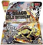 Noa Store L-Drago Gold 4D Top Metal Fusion Fight Master + Lanzador