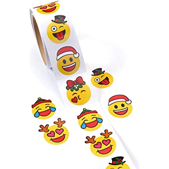 CCINEE Easter Favors Stickers Emoji Stickers Smiley Emoji Lables for Kids One Roll//100 Pieces.
