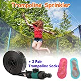 OBUZOO Trampoline Sprinkler Outside Water Toys Trampoline Water Sprinkler Quick...