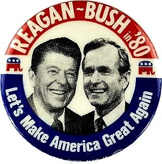 MAGNET Reagan Bush '84 '80 Retro Logo Red White Blue Election Ronald George 1984 84 1980 80 Pin Magnet Decal Fridge Metal Magnet Window Vinyl 5