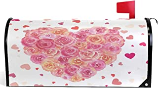 Wamika Happy Mother's Day Love Flowers Rose Carnations Tulip Mailbox Covers Standard Size Best Mom Valentine's Day Pink Florals Magnetic Mail Wraps Cover Letter Post Box 21