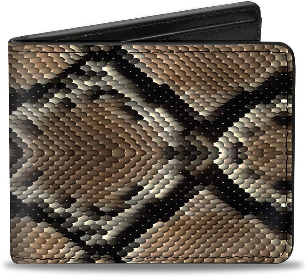 Buckle-Down PU Bifold Wallet - Snake Skin 1