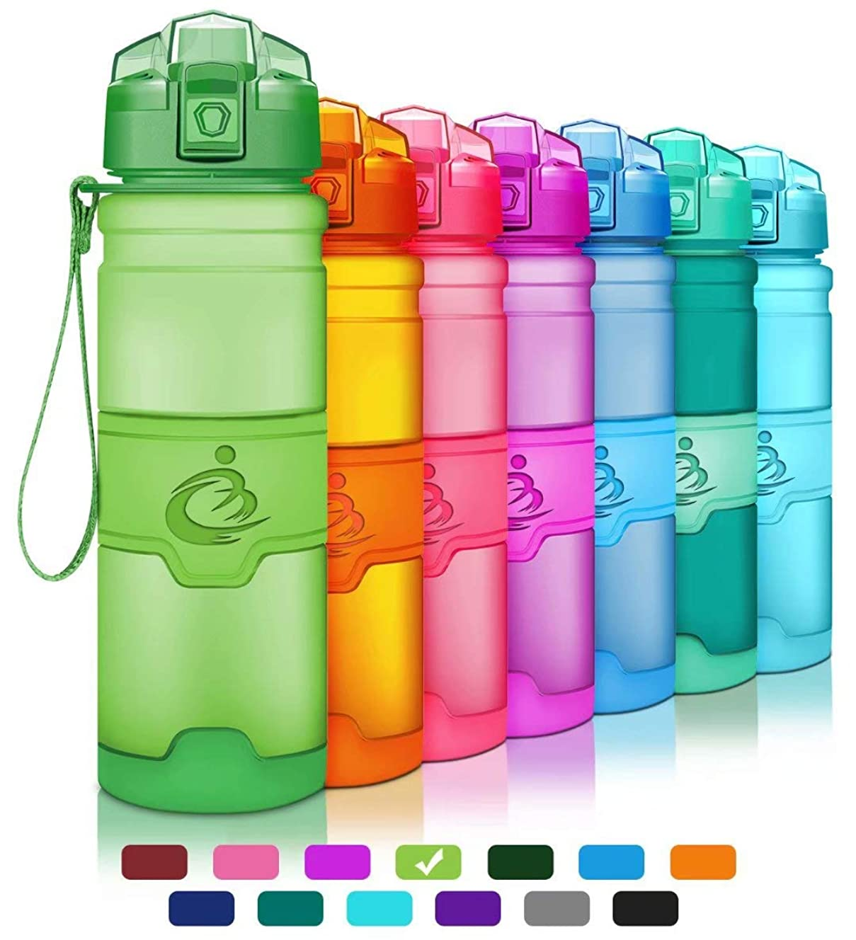 Grsta Sports Water Bottle,Leak-Proof Tritan Plastic BPA Free Kids Water Bottle with Filter/Locking Flip Lid,14 Oz,17 Oz,25 Oz,32 Oz for Children,Running,Gym,School,Outdoors