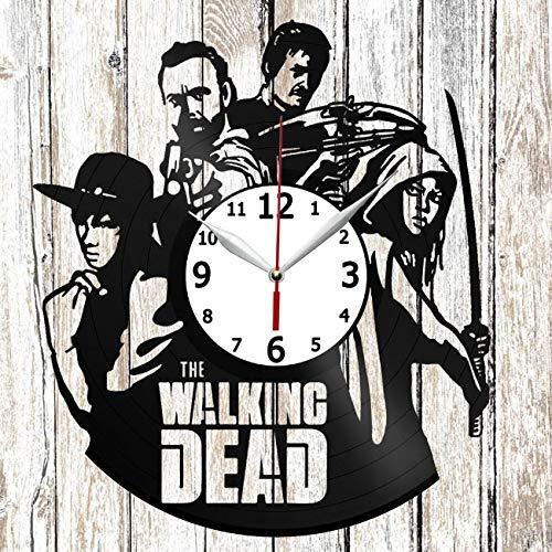 RaduPUSH The Walking Dead Max 58% OFF Vinel Max 88% OFF Record Art Wall Clock Decor Home