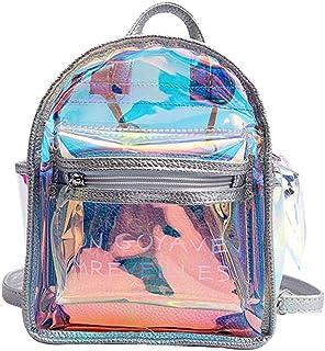 Elegante mochila holográfica transparente Holograma lindo bolsa de hombro de la escuela Regalo de la taleguilla para mujeres niñas