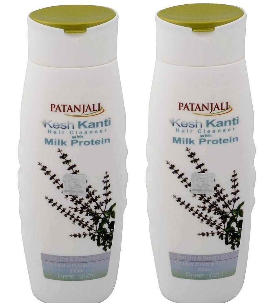 習字足分散Patanjali Kesh Kanti Milk Protein Hair Cleanser Shampoo, 200ml (Pack of 2)