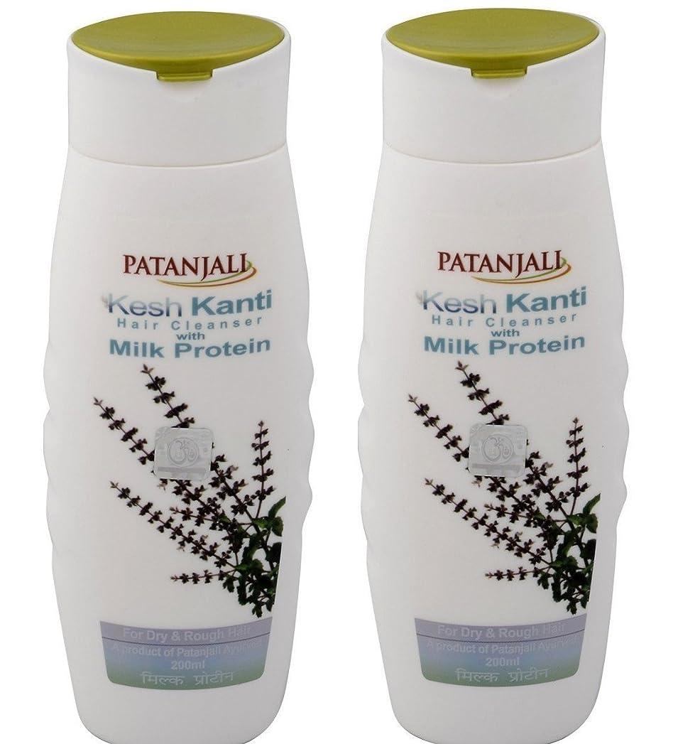 する教えて流Patanjali Kesh Kanti Milk Protein Hair Cleanser Shampoo, 200ml (Pack of 2)