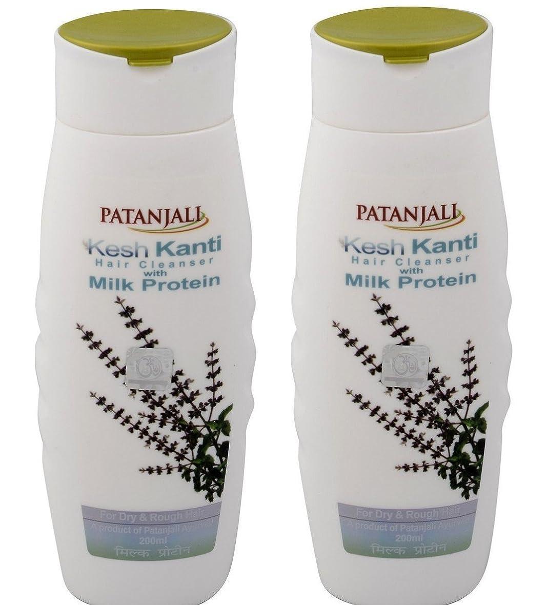 変更幾分としてPatanjali Kesh Kanti Milk Protein Hair Cleanser Shampoo, 200ml (Pack of 2)