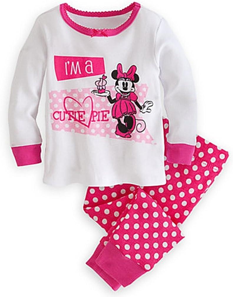 Fille d/'été pyjama Set T-shirt et shorty 2tlg Minnie Disney rose